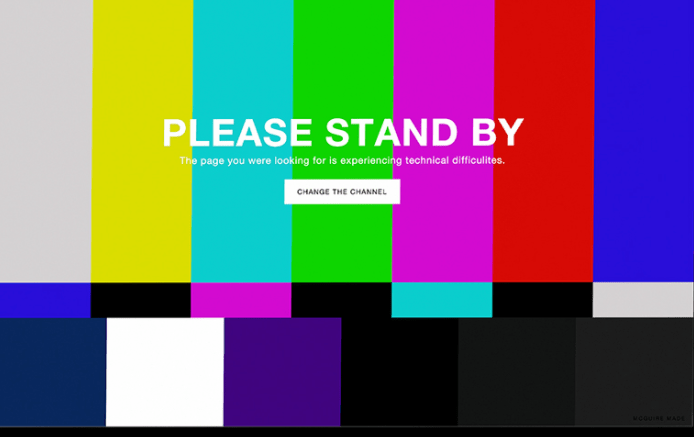 Please Stand By 404 Error Page