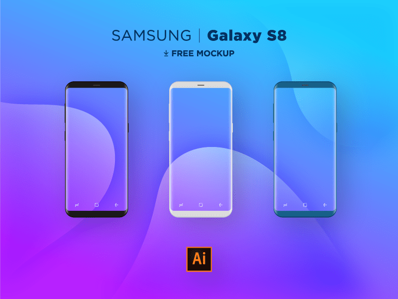 Samsung S8 Flat Mocks AI