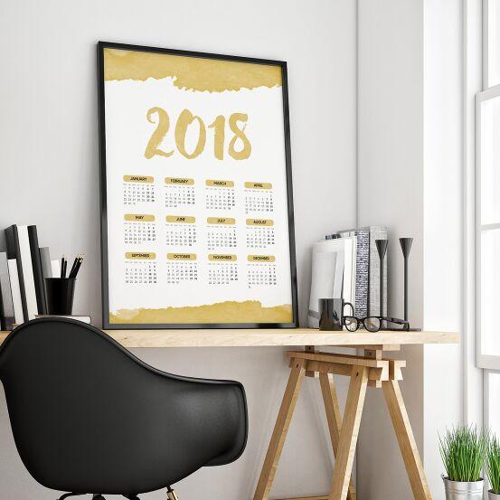 Standing 2018 Printable Calendar