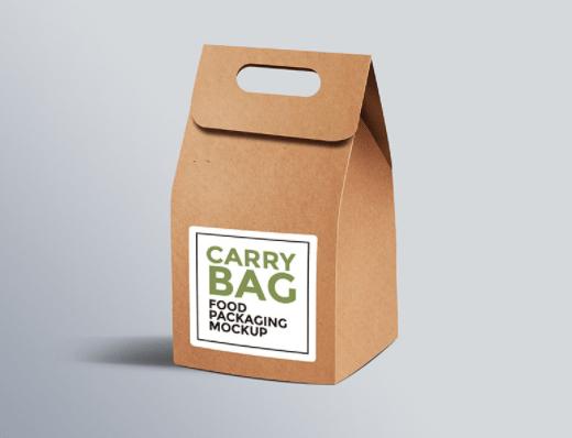 Cardboard Paper Carry Bag Mockup