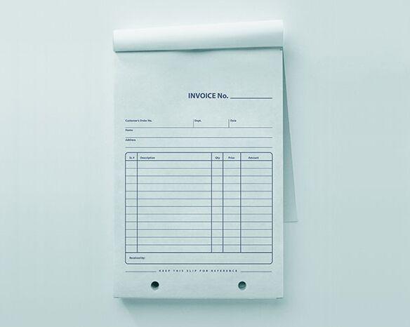 Free Company Retail Invoice Pad Mockup PSD  Mock Invoice