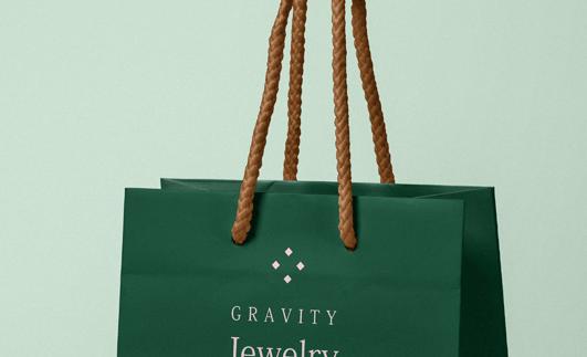 Psd Gravity Paper Bag Mockup