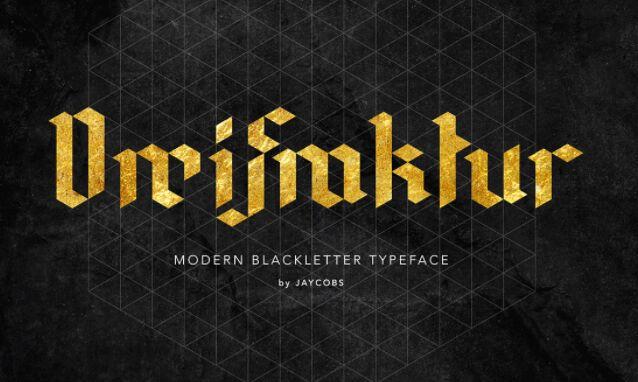 DreiFraktur FREE Modern Blackletter Typeface