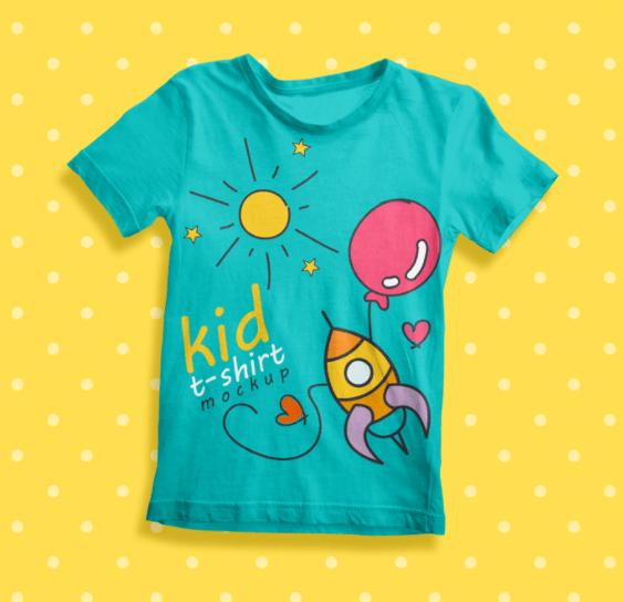 Free Kid t-Shirt Mockup PSD