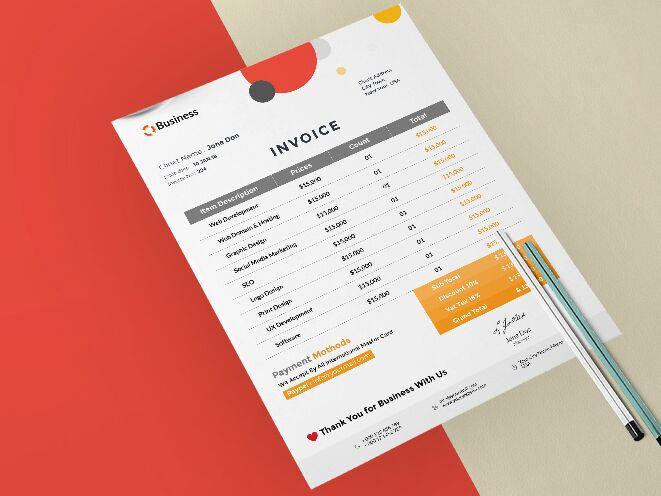 Freebie Minimalist Invoice