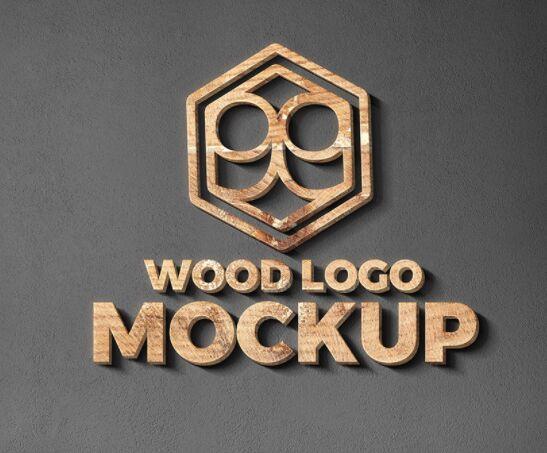 Wood And Metal Cut Logo Mockups