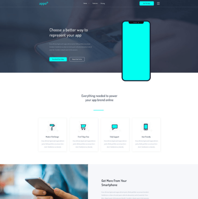 Appo - PSD Landing Page Template