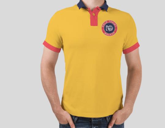 Free Man Wearing Polo T-Shirt Mockup