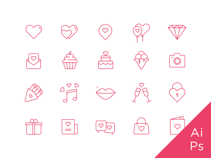 Free St. Valentine's Icon Set
