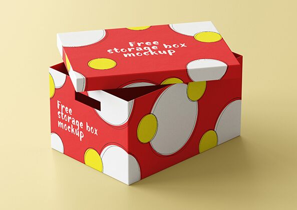 Free storage box mockup