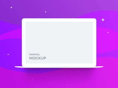 Macbook Minimal Mockup
