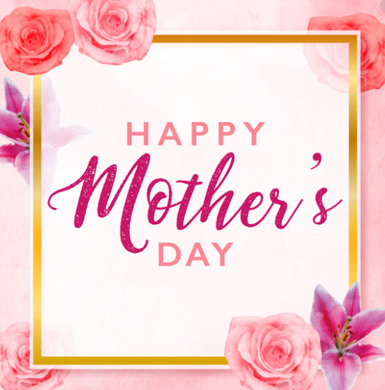 Mother's Day Greeting Card Vector