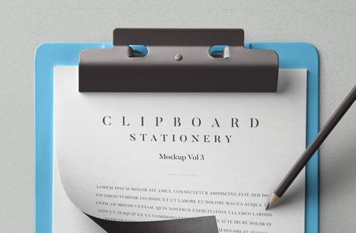 Psd Clipboard Stationery Mockup Vol3