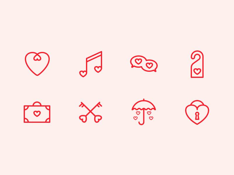 St. Valentine Day Free Icon Set
