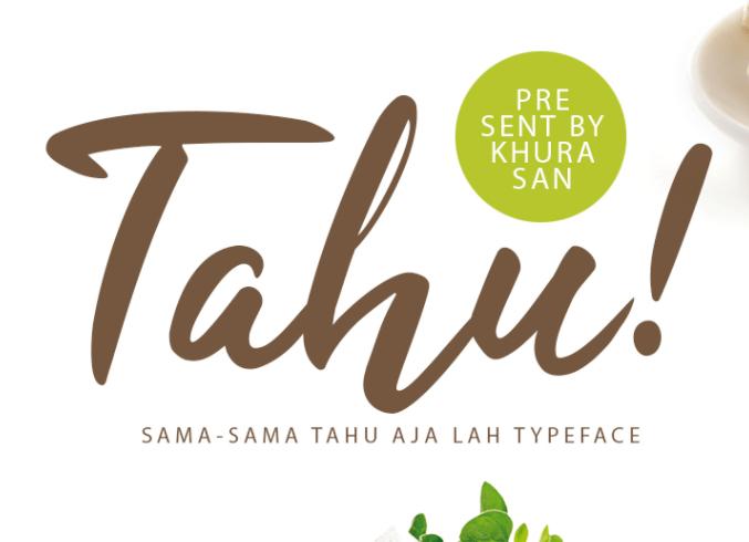 Tahu! Script - 100% Free Font