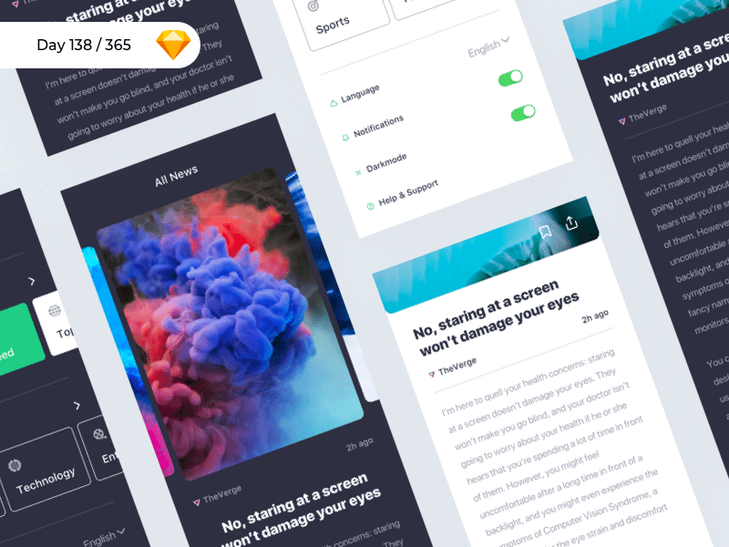 iNews - iOS UI Kit Freebie