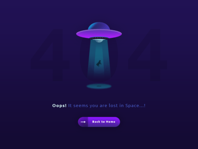 404 Page Cow Abduction