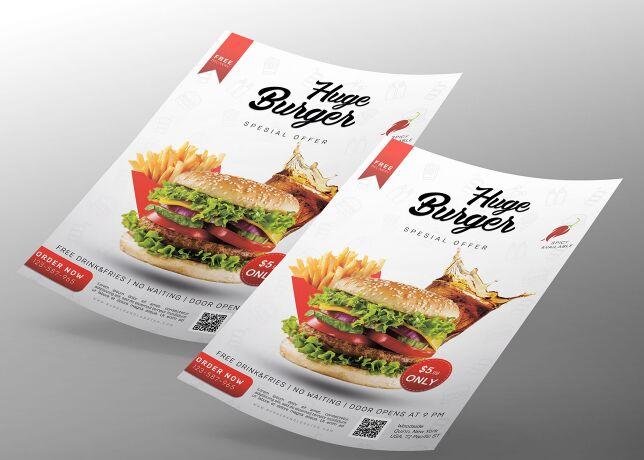 Burger Flyer free PSD