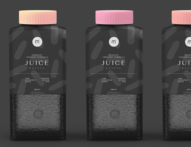 FREE PSD MOCKUP Juice Bottle