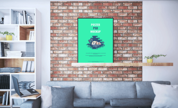 60+ Free Realistic Poster & Frame Mock-ups For Graphic