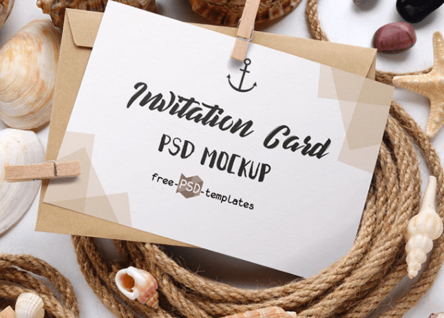 2 FREE INVITATION CARD MOCKUPS IN PSD-min