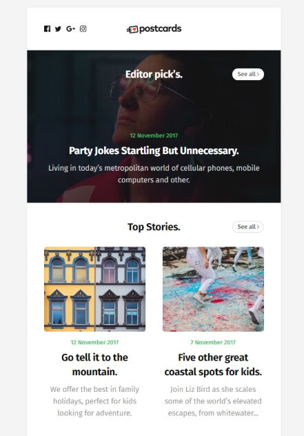 Free Ready-To-Use Email Newsletter Template