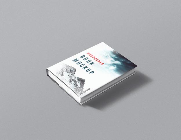 Hardcover Book PSD Mockup-min