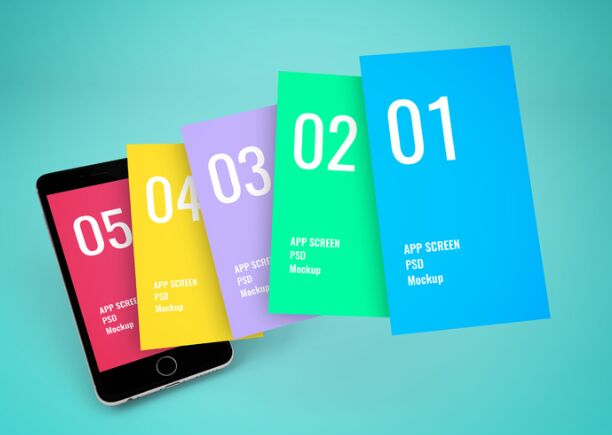 App Screen Showcase Mockup Vol6-min