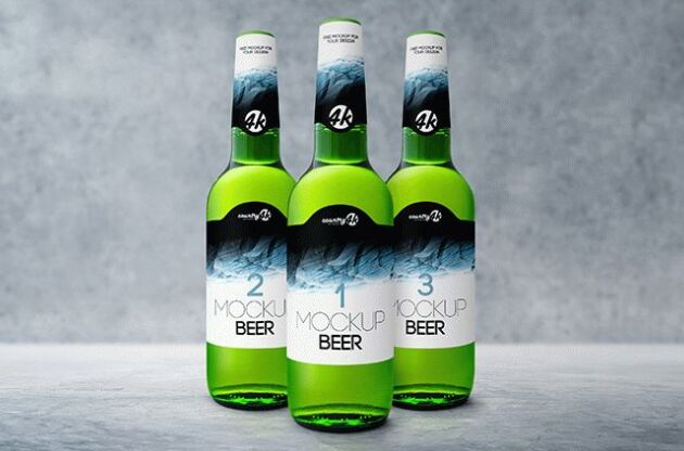 Bottle Beer Free PSD MockUp-min
