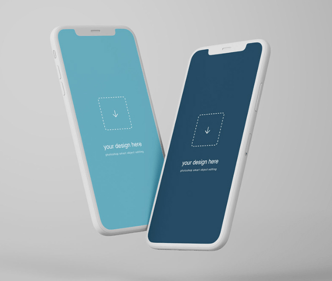 Free Floating iPhone X Mockup-min