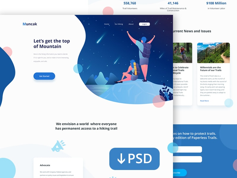 Landing Page for Hiking Site-min