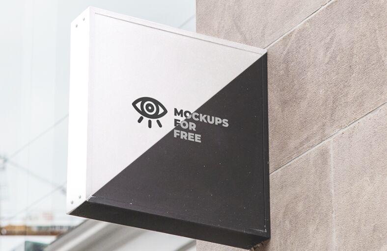 Signboard Mockup Free PSD