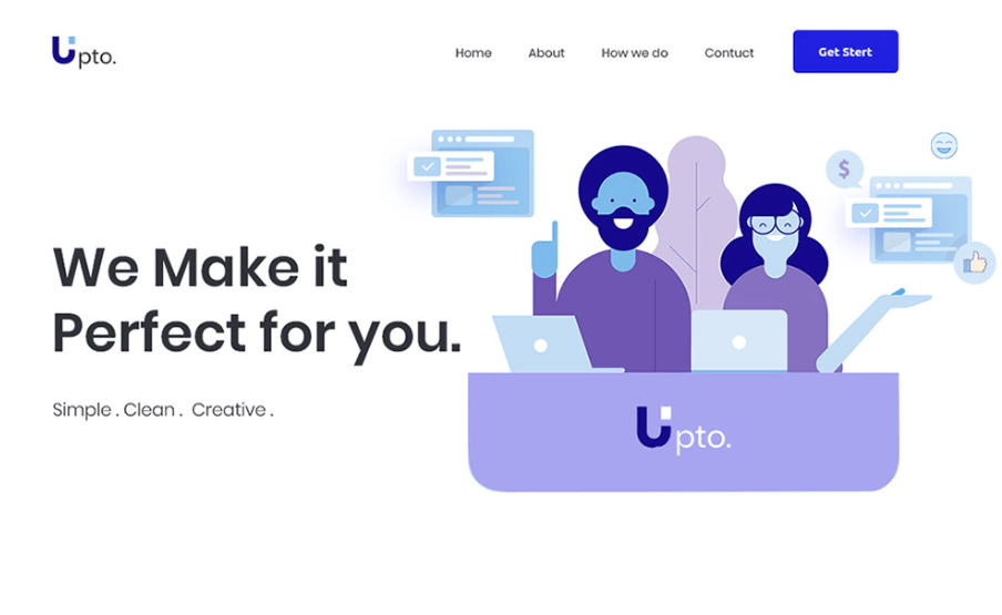 Upto landing page concept-min