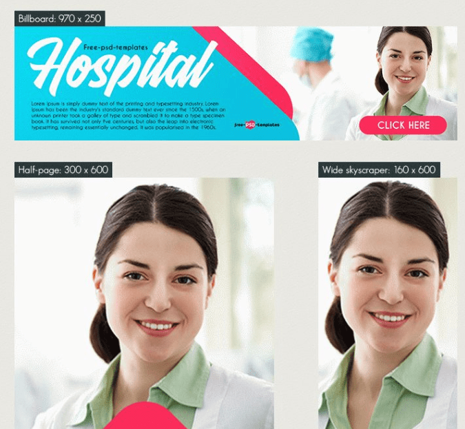 15 Free Hospital Banner Templates-min