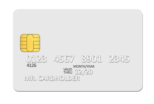 Blank white credit card PSD template-min