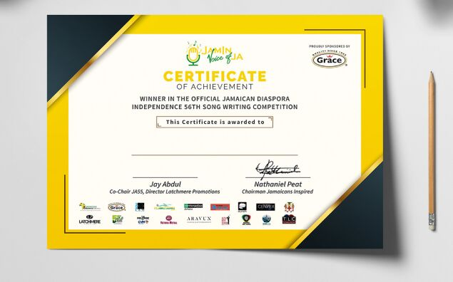 Certificate Mockup PSD Free Download-min