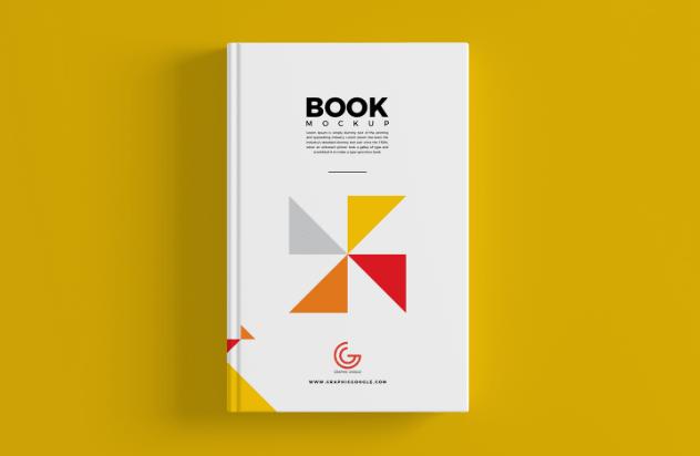 Free Book Cover Mockup PSD For Branding-min