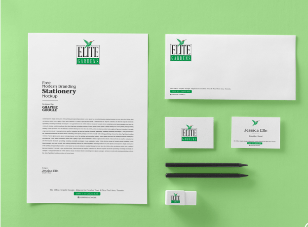 Free Modern Branding Stationery Mockup PSD-min