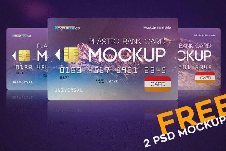Plastic Bank Card – 2 Free PSD Mockups-min