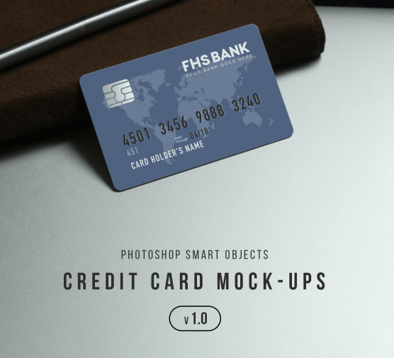 Realistic Credit Card Mockup-min