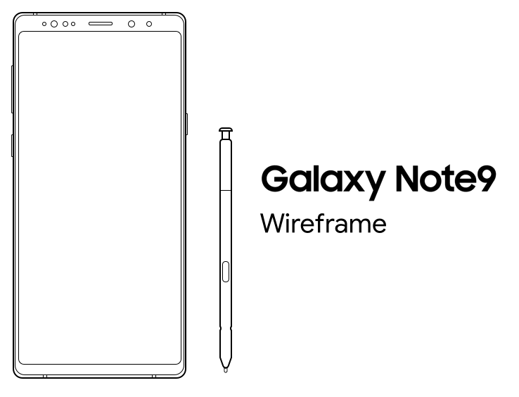 Samsung Galaxy Note9 Free Wireframe-min