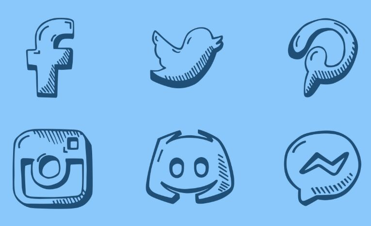 Hand Drawn Social Icons