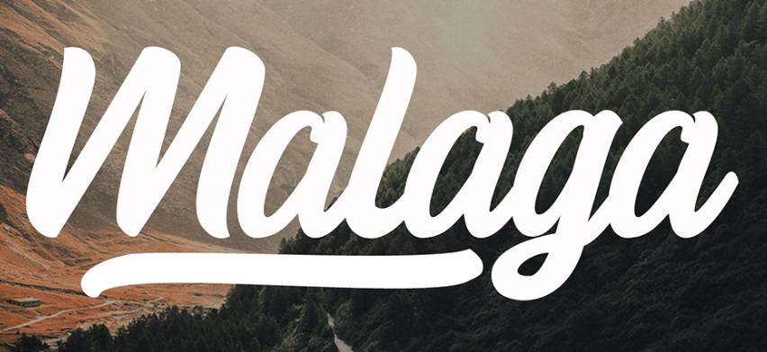 Malaga Script Free Font-min