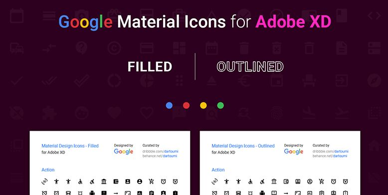 Material Icons For Adobe XD