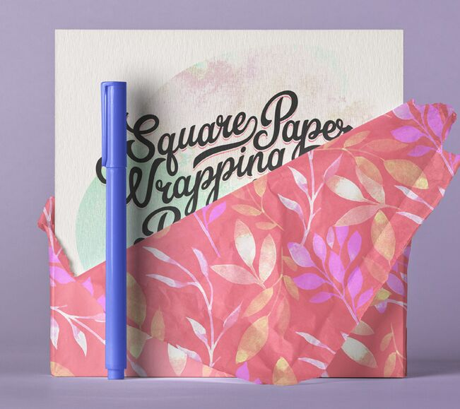 Square Psd Invitation Card Paper Wrap-min