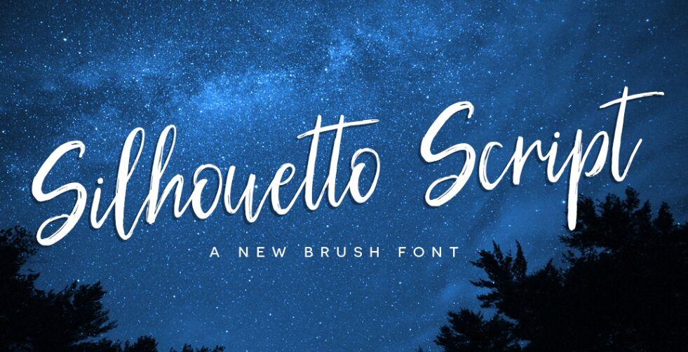 FREE Silhouetto Script Font-min
