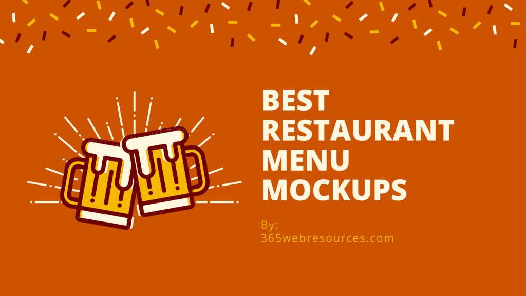 Restaurant Menu Mockups For Designers-min