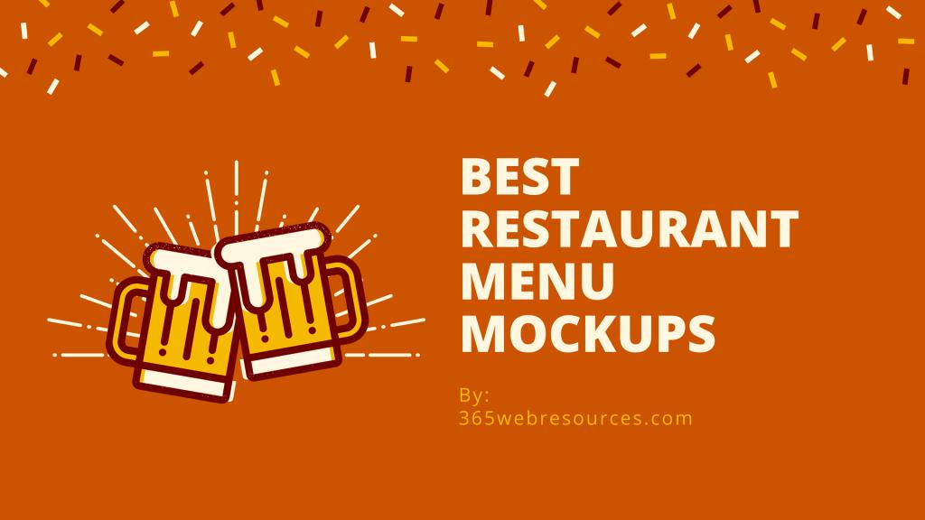 Restaurant Menu Mockups For Designers-min