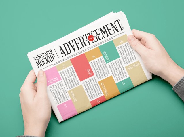 Free Newspaper Mockup PSD For Advertisement 2018