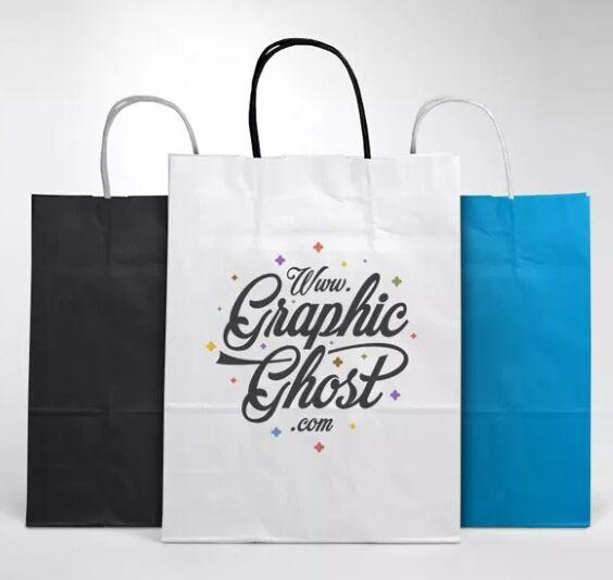 Free Paper Bag Mockup-min